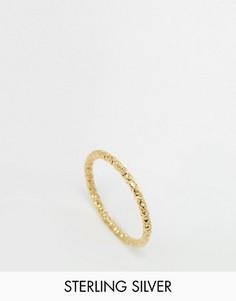 Позолоченное кольцо Dogeared Lovе - Золотой