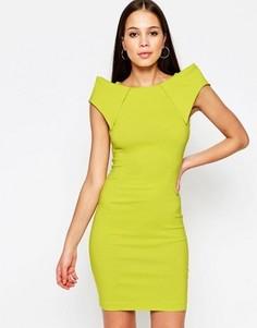 Платье миди с отделкой на плечах Vesper Rogue - Зеленый
