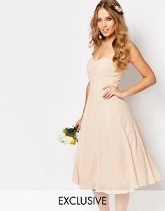 Платье миди для выпускного TFNC WEDDING - Розовый