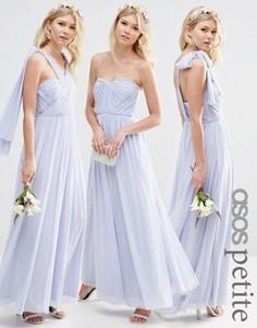 Длинное сетчатое платье-трансформер ASOS PETITE WEDDING - Синий