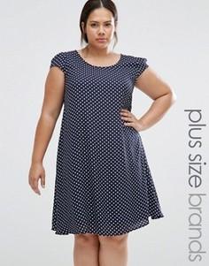 Свободное платье в горошек Praslin Plus - Темно-синий