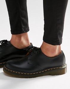 Туфли на плоской подошве с 3 парами люверсов Dr Martens 1461 Gibson - Черный
