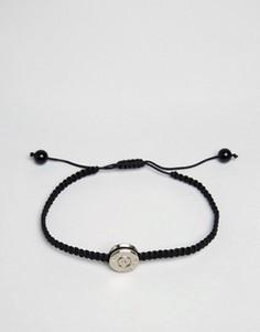 Черный браслет с серебристой подвеской Lovebullets - Черный