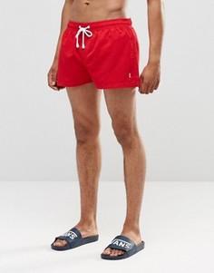 Короткие шорты Ringspun Co-ord - Красный