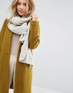 Oversize-шарф в рубчик Pieces - Серый
