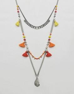 Ожерелье с кисточками Glamorous - Серебряный