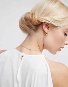 Винтажная базовая заколка-валик для волос ASOS - Желтый