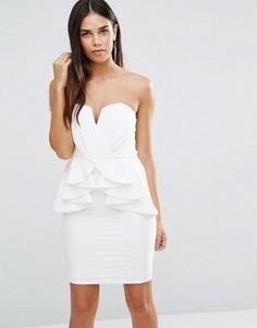 Платье-футляр с баской TFNC - Белый