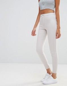 Облегающие джинсы с завышенной талией Missguided Vice - Бежевый