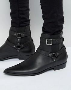 Кожаные ботинки Religion Belter - Черный