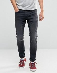 Выбеленные черные зауженные джинсы стретч Selected - Черный