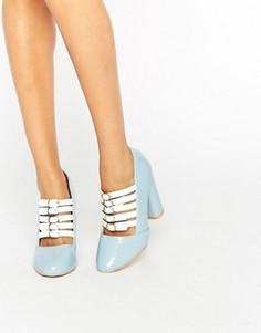Туфли на каблуке с пряжками Daisy Street - Мульти