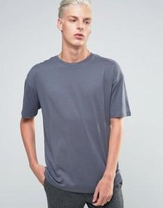 Свободная футболка с круглым вырезом ADPT - Темно-синий