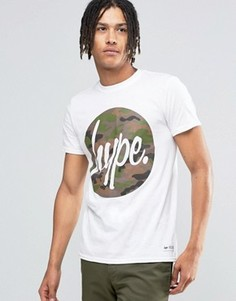 Футболка с камуфляжным логотипом Hype - Белый