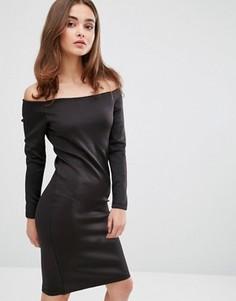 Платье с открытыми плечами This Is Welcome Freedom - Черный