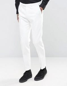 Супероблегающие брюки под смокинг Noose & Monkey - Белый