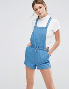 Комбинезон из ткани шамбре с завязкой New Look - Синий