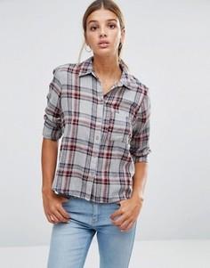 Клетчатая рубашка New Look - Серый