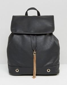 Структурированный рюкзак с золотистой кисточкой Yoki - Черный