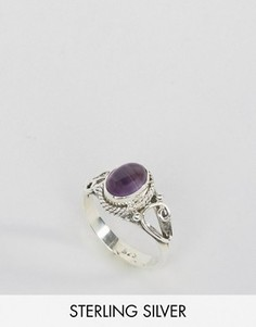 Кольцо с аметистом - камнем для родившихся в феврале Rock N Rose - Серебряный