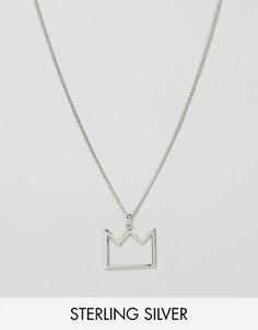 Серебряное ожерелье с подвеской-короной Serge De Nimes - Серебряный