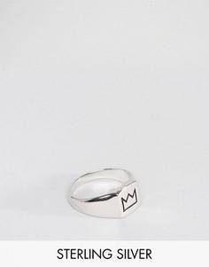 Серебряное кольцо-печатка с короной Serge De Nimes - Серебряный