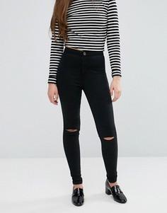 Джинсы с рваными коленями Glamorous - Черный