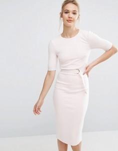 Платье-футляр с D-образным кольцом Ted Baker - Кремовый