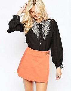Блузка с вышивкой Native Rose Haka Pyjama - Черный