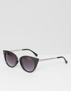 Массивные солнцезащитные очки кошачий глаз 7X - Черный