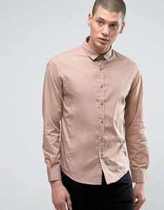 Строгая узкая рубашка Brave Soul - Розовый