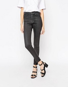 Вощеные джинсы скинни Cheap Monday - Серый