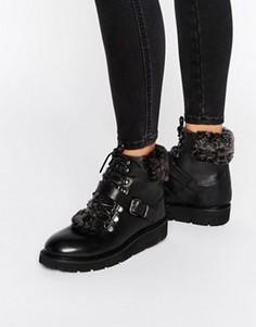 Ботинки на искусственной меховой подкладке H By Hudson Adda - Черный