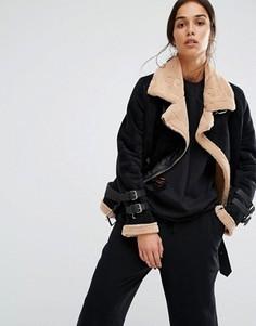 Куртка на подкладке борг Boohoo - Черный