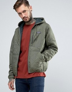 Зеленая стеганая куртка с капюшоном Patagonia - Зеленый