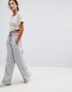 Широкие трикотажные брюки Adidas - Серый