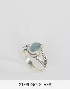 Кольцо с камнем для родившихся в марте Rock N Rose - Серебряный