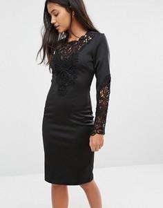 Платье с кружевной отделкой Supertrash Deux - Черный