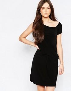 Платье с драпировкой спереди Wal G - Черный