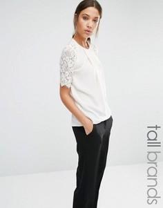 Блузка с кружевными рукавами Y.A.S Tall Barca - Кремовый