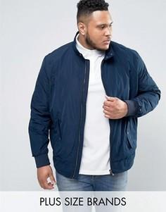 Темно-синяя куртка Харрингтон с логотипом Tommy Hilfiger PLUS Lesley - Темно-синий