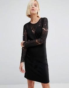 Кружевное облегающее платье Y.A.S Cary - Черный