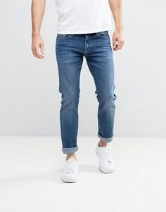 Светлые узкие прямые джинсы Calvin Klein Jeans - Синий
