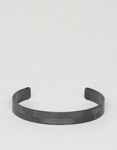 Черный металлический браслет-манжет BOSS by Hugo Boss - Черный