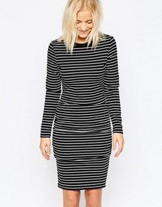 Платье миди со сборками Isla La Femme - Черный