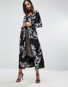 Легкое пальто с цветочным принтом Missguided - Мульти