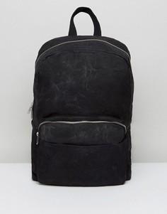 Черный парусиновый рюкзак ASOS - Черный