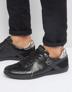Черные кроссовки с перфорацией Versace Jeans - Черный
