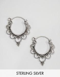 Серебряные серьги-кольца Kingsley Ryan - Серебряный