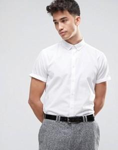 Белая рубашка классического кроя с воротником на пуговицах ASOS - Белый